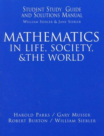Download Mathematics in Life, Society, & the World