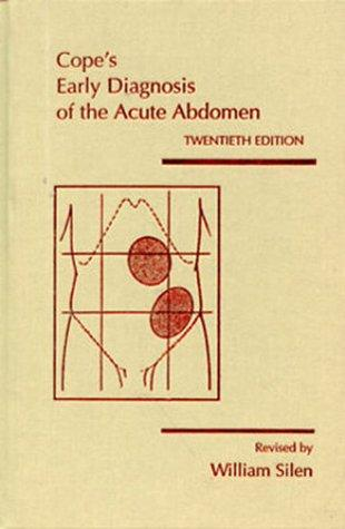 Download Cope's Early Diagnosis of the Acute Abdomen