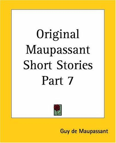 Download Original Maupassant Short Stories
