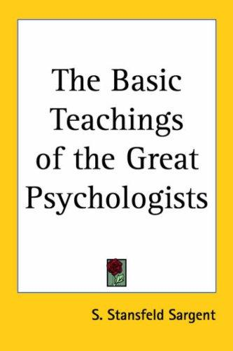 Download The Basic Teachings of the Great Psychologists
