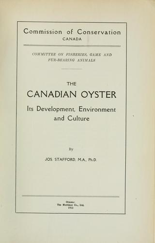 The Canadian oyster
