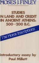 Download Studies in land and credit in ancient Athens, 500-200 B.C.