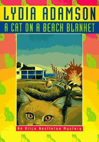 Download A cat on a beach blanket