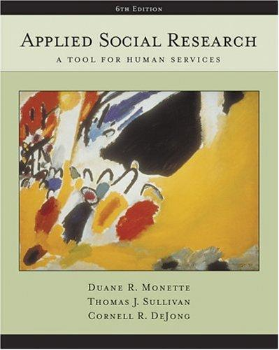 Applied social research by Duane R. Monette