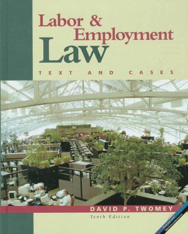 Download Labor and employment law, text and cases