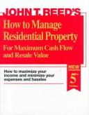 Download How to manage residential property for maximum cash flow and resale value