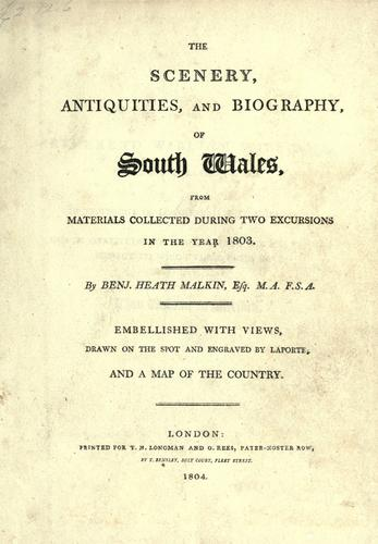 Download The scenery, antiquities, and biography, of South Wales