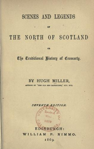 Scenes and legends of the north of Scotland