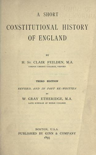 Download A short constitutional history of England