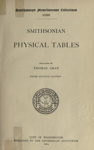Smithsonian physical tables.