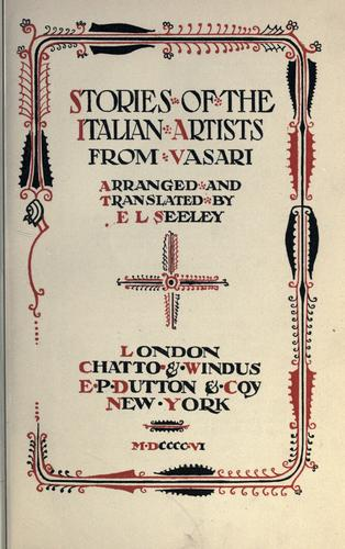 Download Stories of the Italian artists from Vasari
