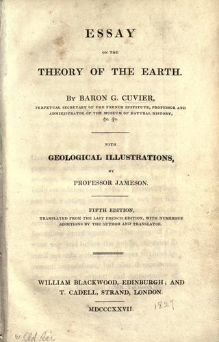 Download Essay on the theory of the earth