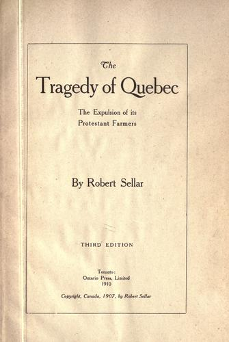 Download The tragedy of Quebec