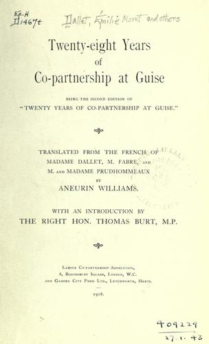Download Twenty-eight years of co-partnership at Guise.