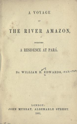 Download A voyage up the River Amazon
