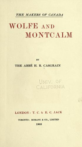 Download Wolfe and Montcalm