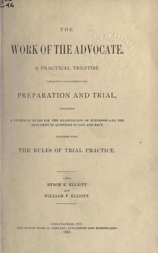 Download The work of the advocate