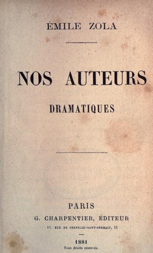 Download Nos auteurs dramatiques.
