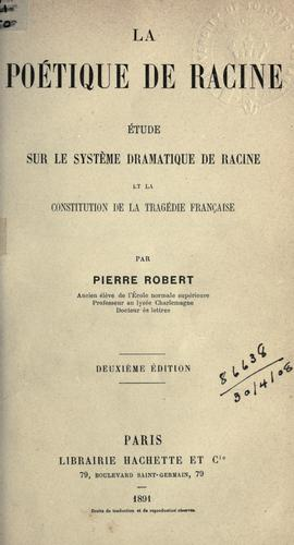 Download La poétique de Racine