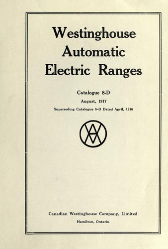 Westinghouse automatic electric ranges by Westinghouse Canada.