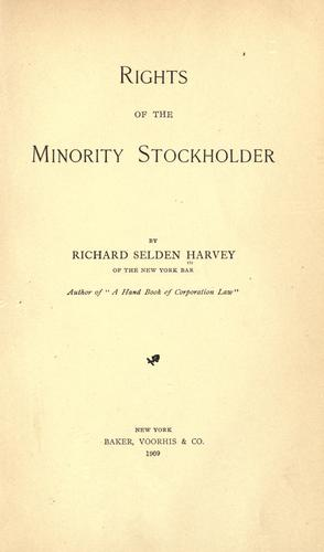Rights of the minority stockholder