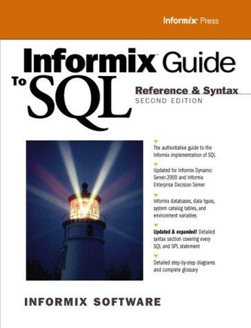 Informix Guide to SQL