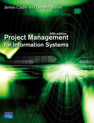 Project management for information systems by
