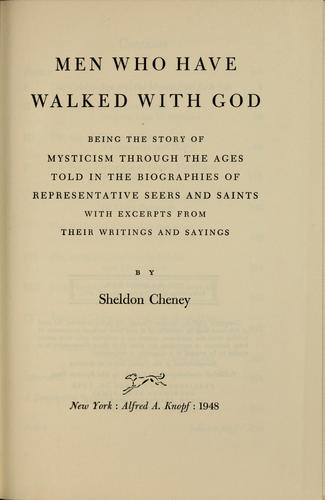Men who have walked with God by Cheney, Sheldon