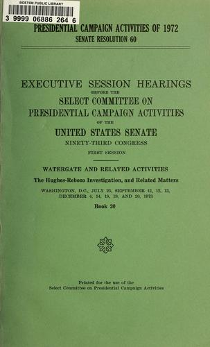 Presidential campaign activities of 1972, Senate resolution 60