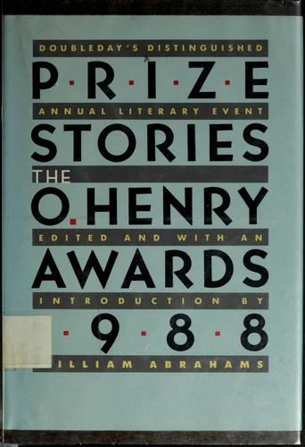 Prize Stories 1988 by William Abrahams