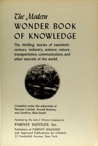 The Modern wonder book of knowledge by