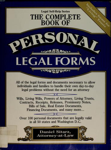 The complete book of personal legal forms