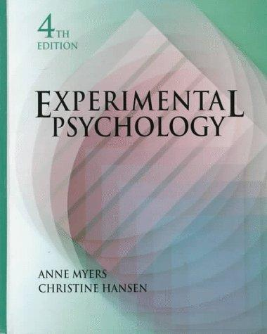 Experimental psychology by Anne Myers