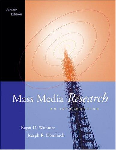Mass media research by Roger D. Wimmer
