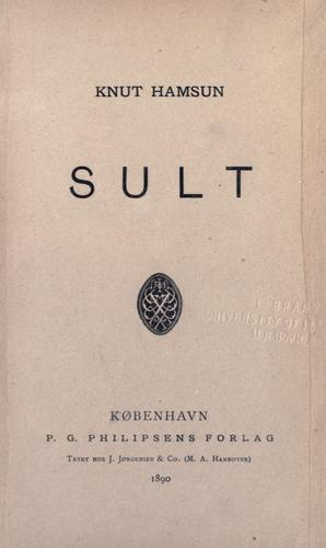 Sult by Knut Hamsun