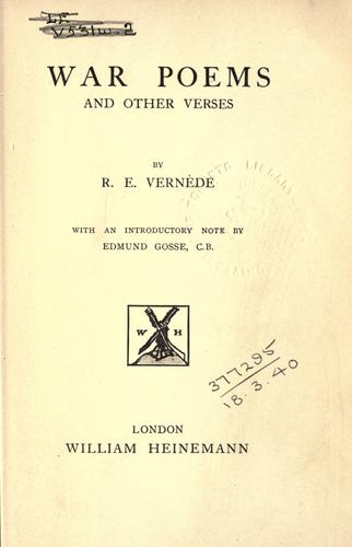 War poems, and other verses.