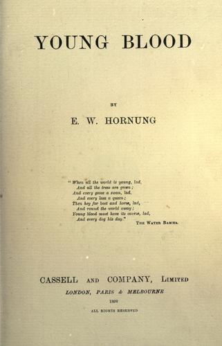 Young blood by E. W. Hornung