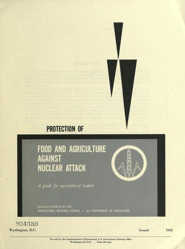 Protection of food and agriculture against nuclear attack by