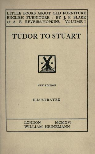 Tudor to Stuart by John Percy Blake