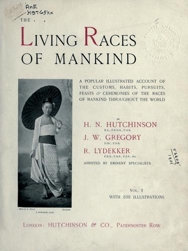 Living races of mankind by Henry Neville Hutchinson