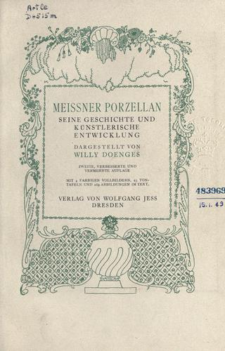 Meissner Porzellan by Willy Doenges