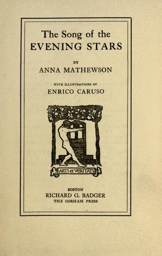 The song of the evening stars by Anna Mathewson